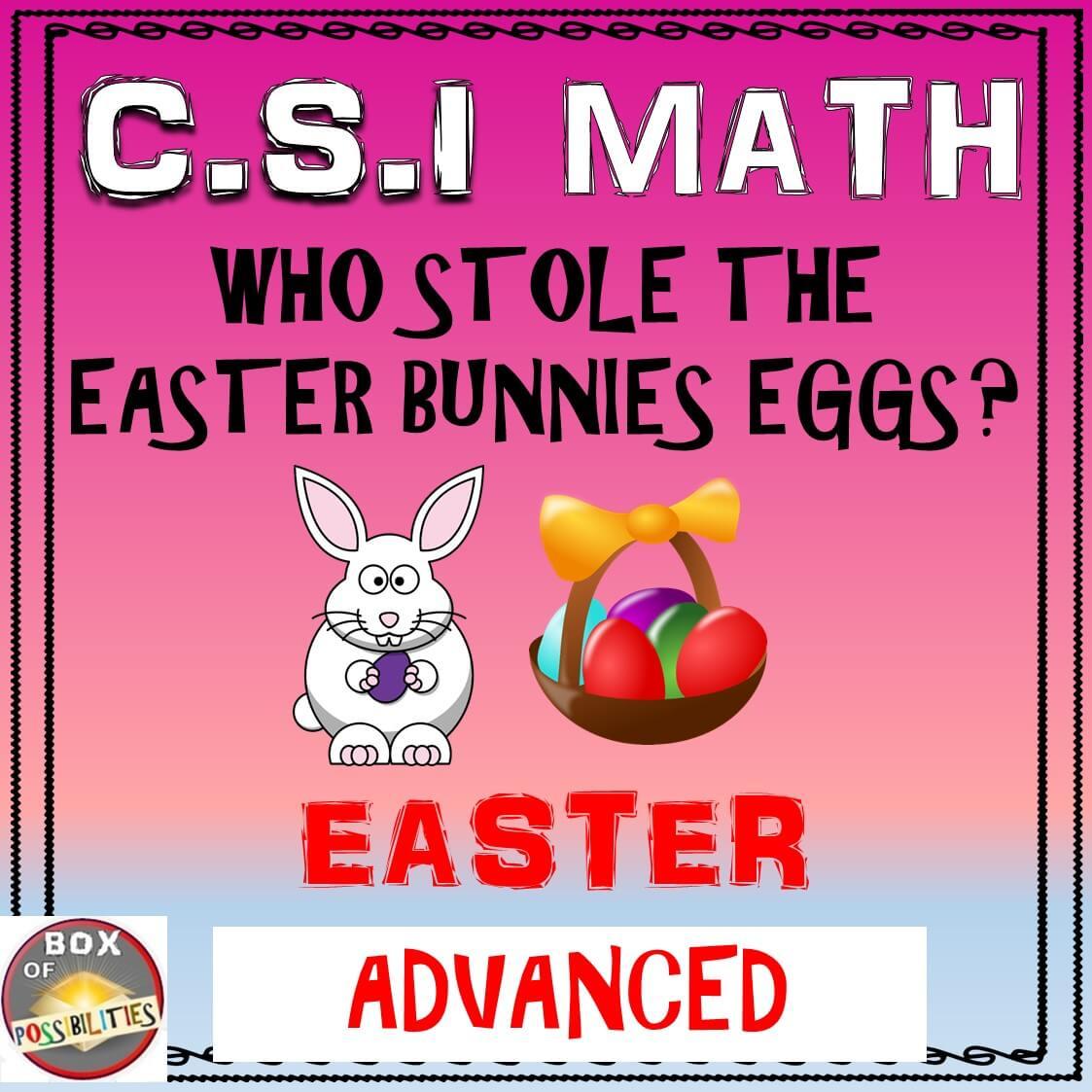 easter advanced csi math math activities